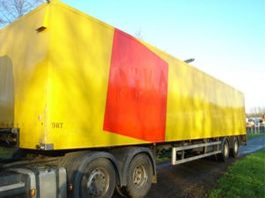 closed box semi trailer Fruehauf 2 ASSER.1360 L.STUURAS.KLEP 2000