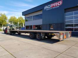 flatbed full trailer Van Hool 3 as 2005
