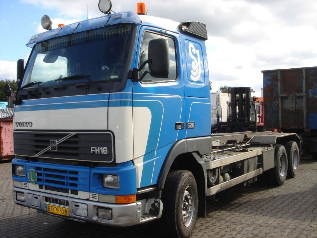 container truck Volvo FH16 1997 520, full steel susp , 10 tyres 6x2/4 1997