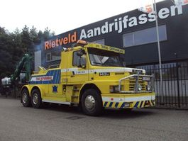 tow-recovery truck Scania T 142 6x2 1987