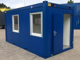 isolated shipping container Winters 4,9 x 2,4m - 16ft Bureaucontainers