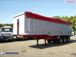 Kippauflieger Wilco x Tipper trailer alu 54 m3 + tarpaulin 2005