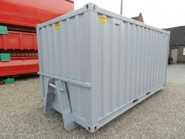 dry standard shipping container Winters 15ft op slede/Opslagcontainers