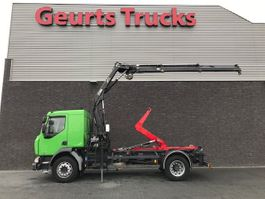 container truck Renault MIDLUM HOOKLIFT + HIAB CRANE 4X STOCK 2007