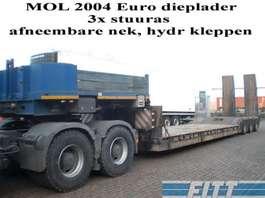 semirreboque com plataforma baixa Mol 3ass EURO dieplader 2004