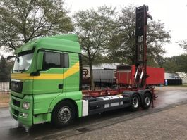 container truck MAN 26-440 container/silo steller systeem 2009