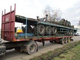 flatbed semi trailer Trouillet Oplegger 30x flatbed/plateau on stock stacking possible 1999