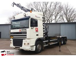 container truck DAF 95 XF steel Hiab 166 remote controle NCH kabelsysteem 2001