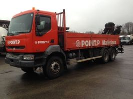 platform truck Renault KERAX 320 DCI 6X4 + HIAB CRANE 2004