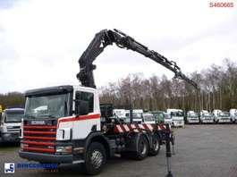 camión plataforma Scania P94 GB 6x2 + Fassi F380A.24 + Jib L324 2001