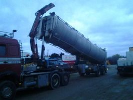 Viehauflieger VM Tank Tip Kran Crane for dead animals 2007