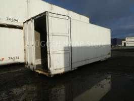 container chassis semi trailer Krone Glattwand WKO BDF-7.45 als mob. Lager !!! 2010