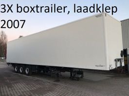 closed box semi trailer spier BOXTRAILER MET 2000 KG ONDERVOUWKLEP , 2.70 hoog 2007