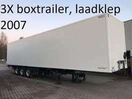 geschlossener Kasten Auflieger spier BOXTRAILER MET 2000 KG ONDERVOUWKLEP , 2.70 hoog 2007