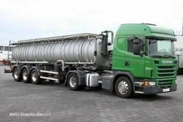 Tankwagen Scania G 480 E6 Edelstahl-Saug- und Druckauflieger 8mm 2013