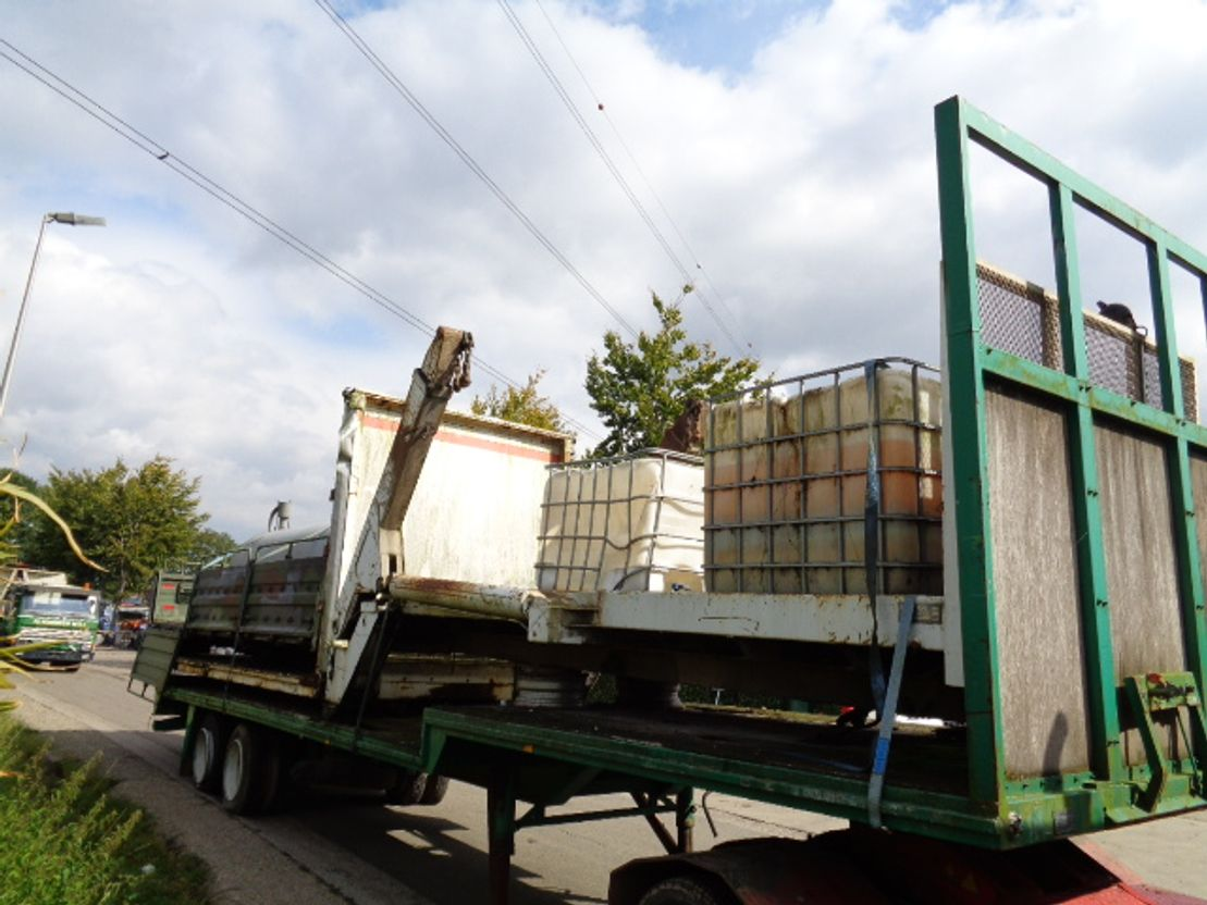 Container system truck part Diversen Occ portaal arm systeem