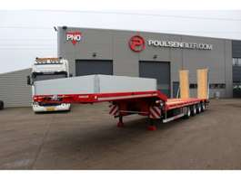 semi lowloader semi trailer Hangler 4-axle machinery trailer 3600mm ramps 2019