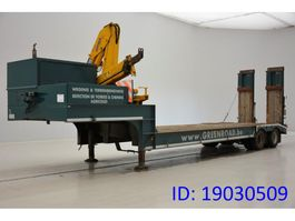 Tieflader Auflieger Gheysen en Verpoort Low bed trailer + crane 1996