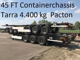 container chassis semi trailer Pacton TXC339 ,40 / 45 ft container , tarra 4.400 kg 2008