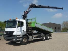tipper truck > 7.5 t Mercedes-Benz 2636 K - 6x4 - 278.706 Km - EURO 4 + HIAB KRAAN 2008