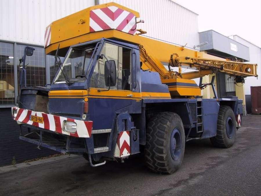 Used Terex PPM 380 ATT for parts Rough Terrain Crane