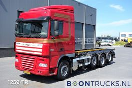 container truck DAF XF 105 XF105.510 8X2 | MANUAL 20 ft CONTAINERFRAME 2012
