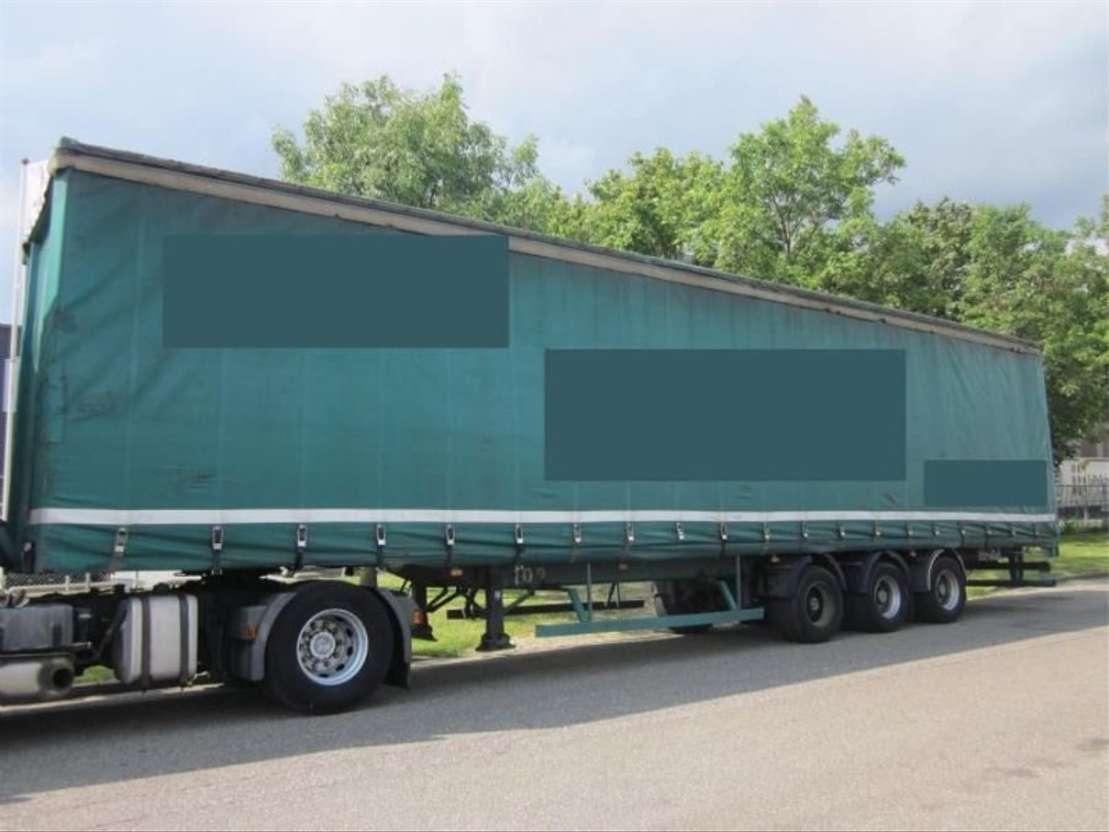 sliding curtain semi trailer Trailor OPLEGGER TRAILOR 3-ASSER  MEGA 1999