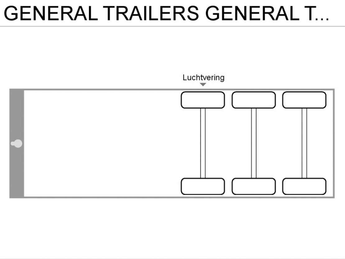 semirremolque de cortina deslizante General Trailers GENERAL TRAILER 3-ASSER   **SCHRIJFREMMEN** 2001