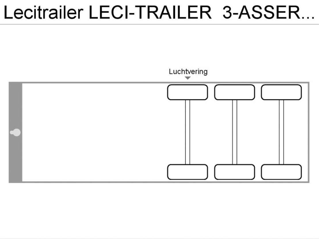 semi-remorque à rideau coulissant LeciTrailer LECI-TRAILER  3-ASSER  SCHUIFDAK/SCHUIFZEILEN 2002