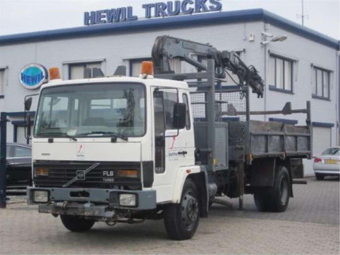 camião basculante Volvo VOLVO FL6-14 4X2 KIPPER KRAAN 1989