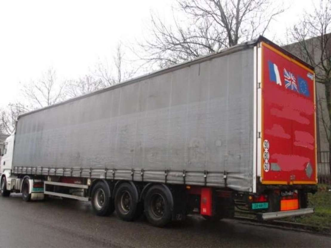 sliding curtain semi trailer LeciTrailer LECI-TRAILER  3-ASSER   *SCHRIJFREMMEN* 2002
