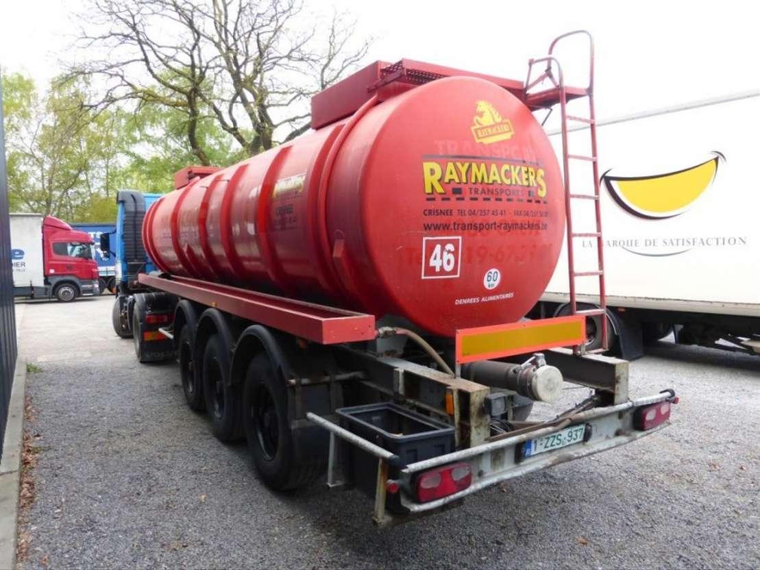 tank semi trailer semi trailer EKW 89/39 3 1990
