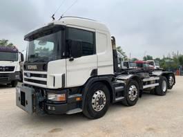 camion con telaio cabinato Scania 124.420 8x2 Euro3 Abrollkipper