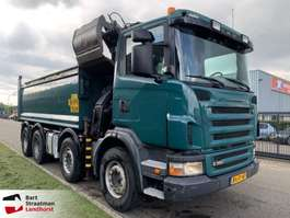 camion a cassone ribaltabile Scania G360 8x4 euro 5 tipper with Z-Crane 2009