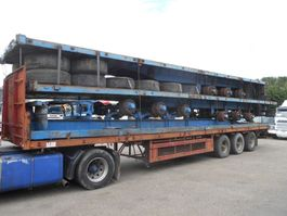 flatbed full trailer PACKAGE STEEL SPRING TRAILER 1985