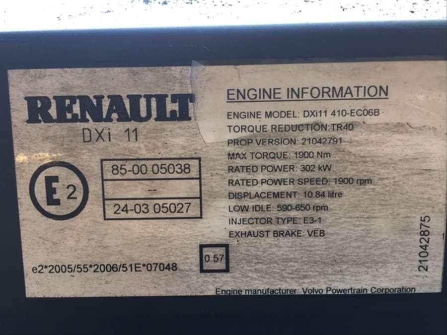 Used Renault DXI 11 410-EC06B Engine |Trucksnl com