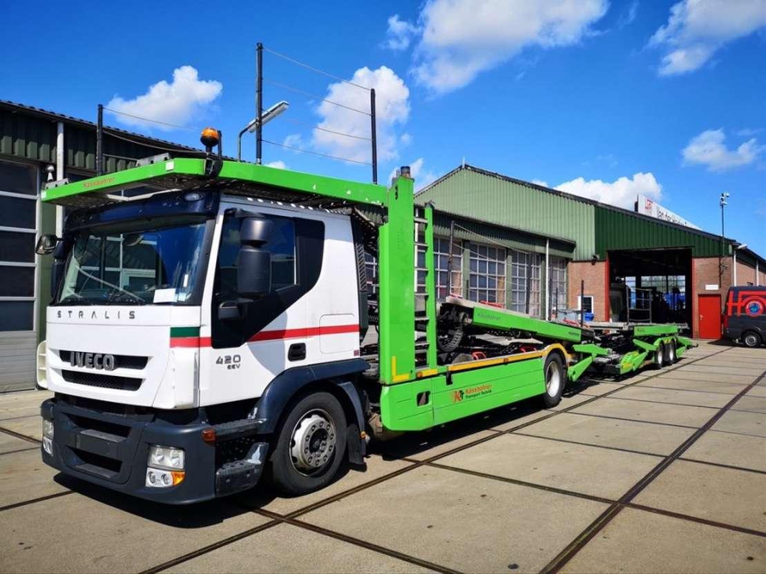 Iveco Stralis At190s42 Fp Ct Euro 5 Eev Kassbohrer Pkw Transporter Car Transporter Truck Trucksnl Com