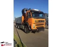 tipper truck > 7.5 t Terberg FM1350 euro 5 6x6 kipper met Z-kraan 2008