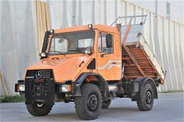 tipper truck > 7.5 t Unimog U 140 4x4 Kipper Platte f. Schneepflug 1995