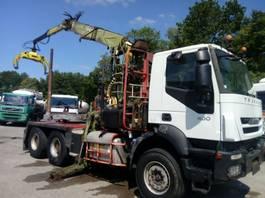 camion trasporto legname Iveco TRAKKER 6X4 LOGLIFT F241SL 2008