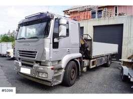 camion grue Iveco Stralis planbil m/ Effer 18 t/m kran 2007