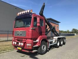 container truck MAN TGA 35.480 8X4 TRIPPEL !!! LEEBUR 30 TONS HAAK 2007