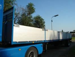 flatbed semi trailer GS Meppel open met borden 1987