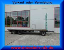 flatbed full trailer Krone ADP 27  3 Achs Jumbo- Plattform Anhänger 2014