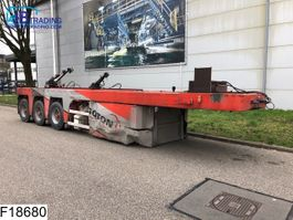 flatbed semi trailer Langendorf SGL 3 Concrete slab / Betonplaten  transport 1993