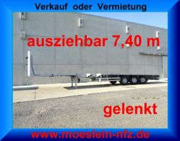 other full trailers Meusburger MPS-3  3 Achs Tele- Sattelauflieger, 7,40 m ausziehbar, gelenkt 2010