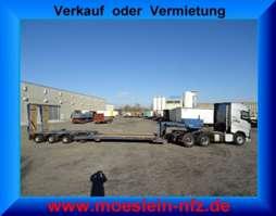 semirreboque com plataforma baixa Goldhofer STZ-VL4-38/80  4 Achs Tiefbett- Satteltiefladerheb und senkbares Tiefbett 1995