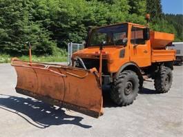 garbage truck Unimog 424 / U 1000 ** Winterdienst / Kipper ** 1980