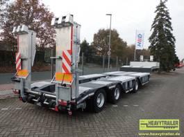 semi lowloader trailer HRD 3-Achs-Semi-Auflieger mit Rampen und tiefen Radmulden