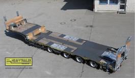 semi lowloader trailer Meusburger 4-Achs-Tele-Semi-Auflieger Bau